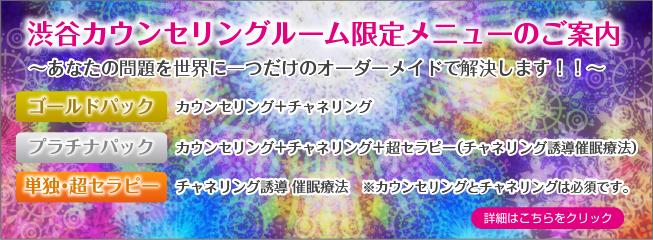 渋谷カウンセリングルーム限定メニュー